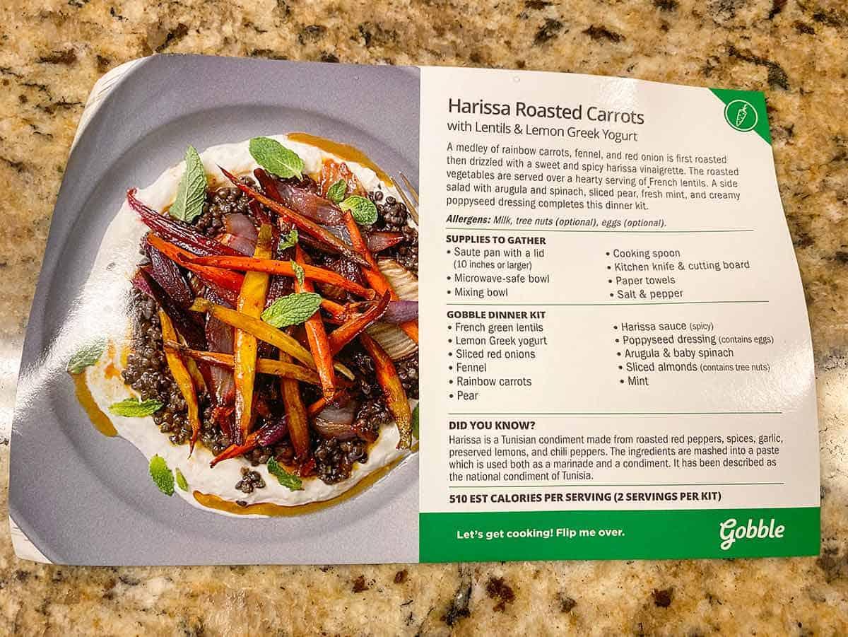 gobble recipe card